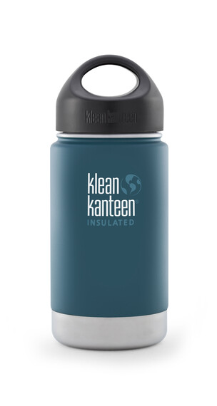 Klean Kanteen Wide Insulated Drinkfles met RVS Loop Cap, 355 ml blauw